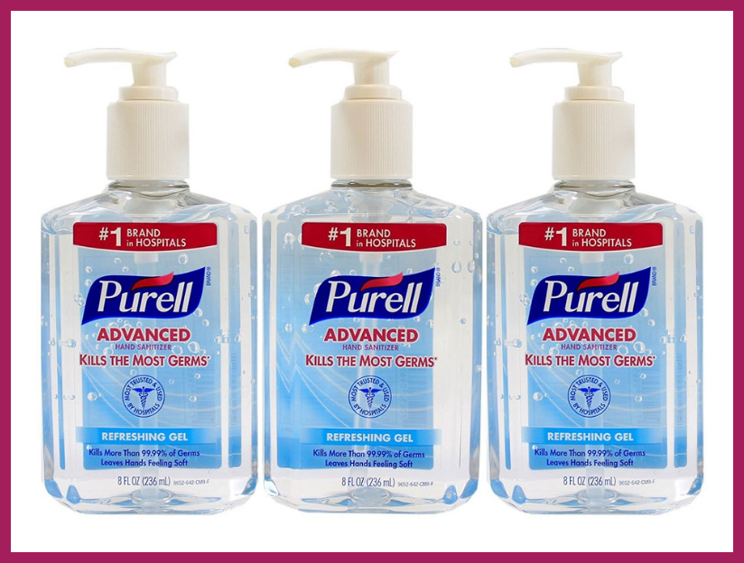 Purell Advanced Hand Sanitizer 8-ounce Pump Bottle (three-pack). (Photo: Amazon)