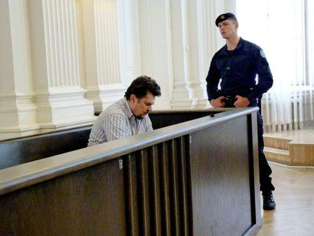 Rimasauskas ahead of a verdict announcement in his extradition case at a court in Vilnius