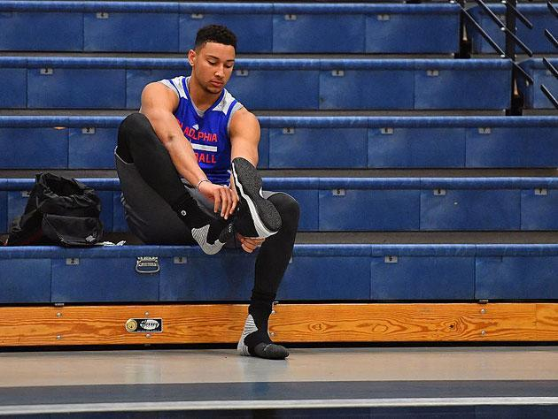 Ben Simmons and his right foot. (Getty Images)