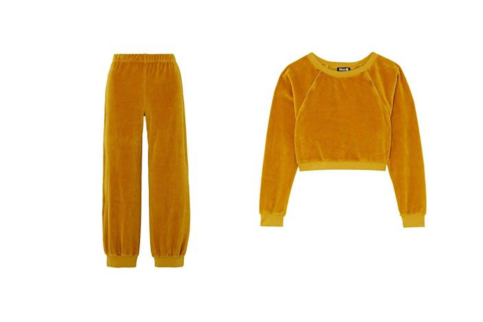 "$390, Suzie Kondi. <a href=""https://suziekondi.com/collections/ready-to-ship/products/high-waist-harem-pants-gold"" rel=""nofollow noopener"" target=""_blank"" data-ylk=""slk:Get it now!"" class=""link rapid-noclick-resp"">Get it now!</a>"
