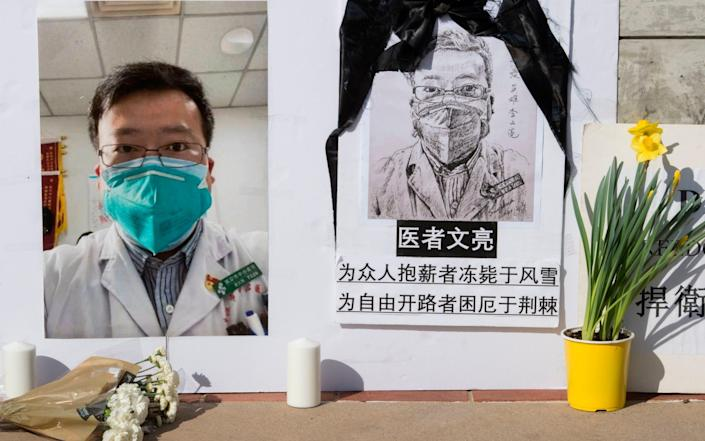 Chinese state surveillance was able to identify and punish Wuhan whistleblower Dr Li Wenliang for alerting colleagues to a coronavirus in 2019 - GETTY IMAGES