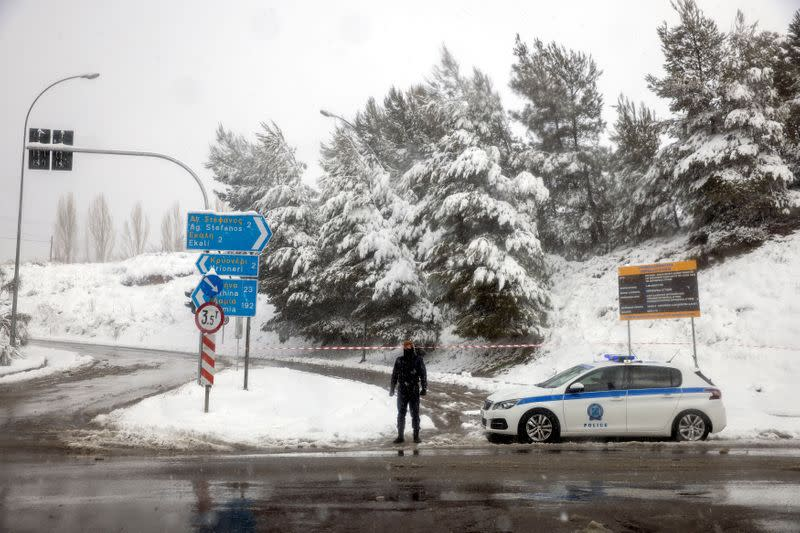 Heavy snowfall in Greece