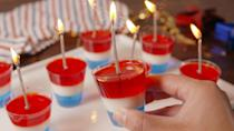 """<p>Nothing gets the party started on July 4th like Jell-O shots. They're refreshing and make your favorite drinks way easier to throw back—just consult our margarita, champagne, and tequila sunrise Jell-o shots for reference. </p><p>For more ideas, try our <a href=""""https://www.delish.com/holiday-recipes/g3422/4th-of-july-drinks/"""" rel=""""nofollow noopener"""" target=""""_blank"""" data-ylk=""""slk:best Fourth of July cocktails"""" class=""""link rapid-noclick-resp"""">best Fourth of July cocktails</a> and <a href=""""http://www.delish.com/holiday-recipes/g1434/healthy-july-fourth-desserts/"""" rel=""""nofollow noopener"""" target=""""_blank"""" data-ylk=""""slk:July 4th Desserts"""" class=""""link rapid-noclick-resp"""">July 4th Desserts</a>.<br></p>"""