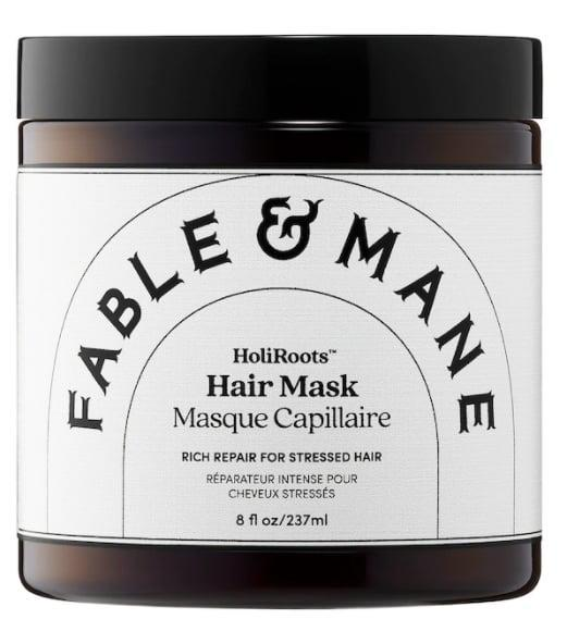 <p>The amazing tropical scent of the <span>Fable &amp; Mane HoliRoots Hair Mask</span> ($32) is enough reason alone to use it but it's also loaded with hydrating butters to leave hair feeling soft as silk. </p>