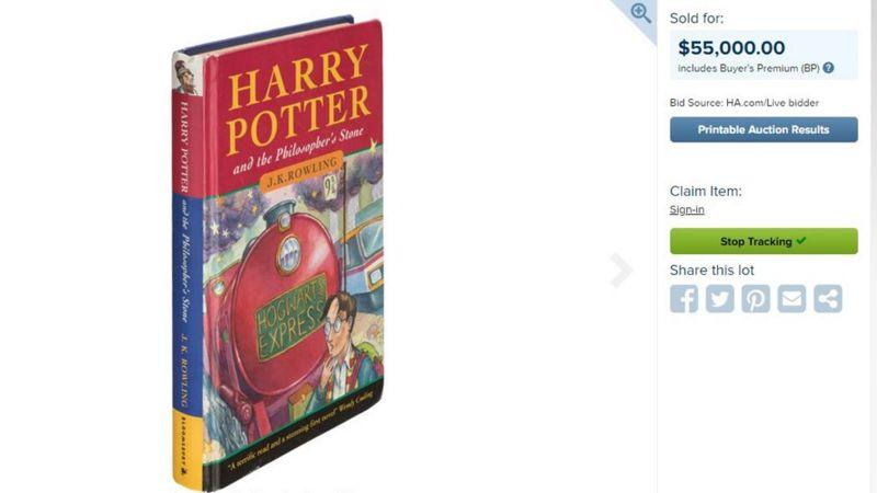 The Harry Potter book was sold for or $55,000 (£42,500) (Picture: Heritage Auction)