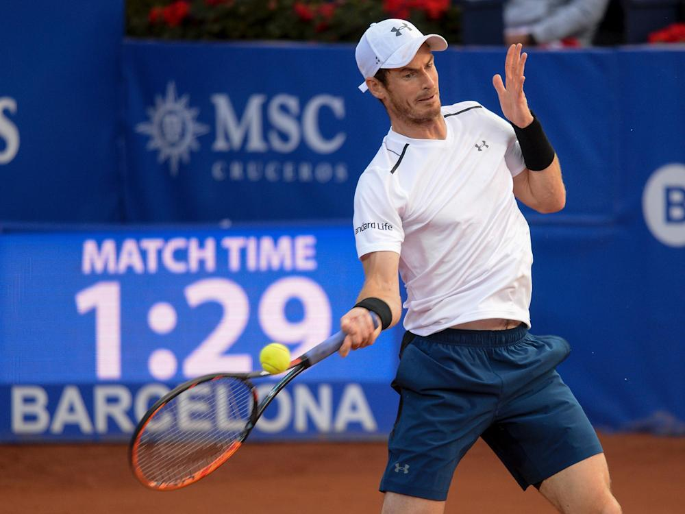 Murray is continuing his return from an elbow injury: Getty