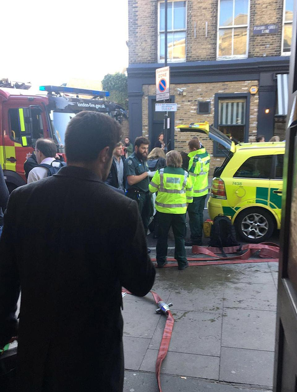 <p>Paramedics arrive in West London to treat those affected by the Parsons Green explosion. (PA) </p>