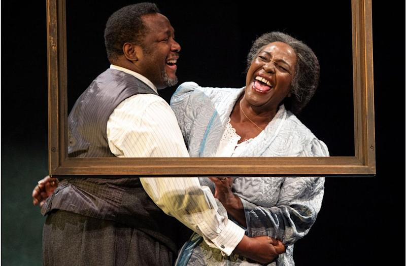 Wendell Pierce and Sharon D Clarke in Arthur Miller classic Death of a Salesman at the Piccadilly theatre in London, 2019