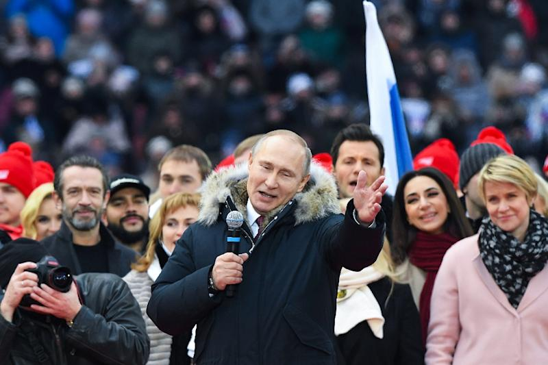 Around 90 percent of people who are aware of Putin's programme say they support it, according to pollster Valeriy Fyodorov (AFP Photo/Kirill KUDRYAVTSEV)