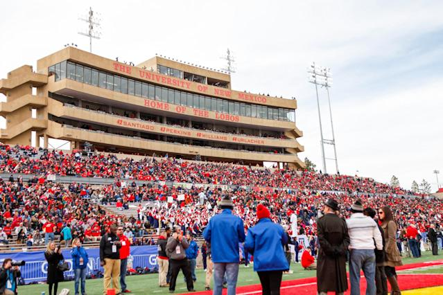 ALBUQUERQUE, NM – DECEMBER 19: Fans fill the seats at University Stadium during the New Mexico Bowl on December 19, 2015 in Albuquerque, New Mexico. Arizona won 45-37. (Photo by Aaron Sweet/Getty Images)