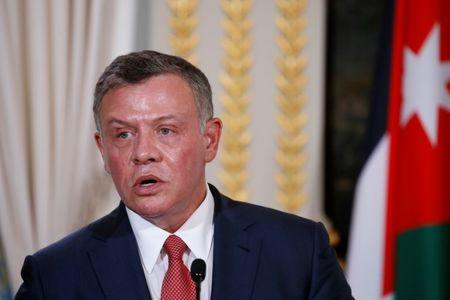 Jordan's King Abdullah attend a joint news conference following a meeting with the French president at the Elysee Palace in Paris, France, June 19, 2017. REUTERS/Gonzalo Fuentes