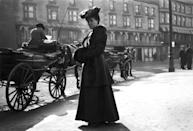 <p>The Victorian silhouette was made to be conservative with lots of layers and coverage. During this period, there was also a stronger emphasis on a woman's slim waist, meaning corsets were encouraged.</p>