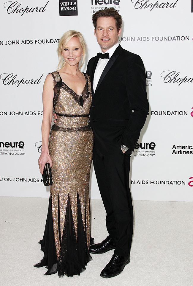 Anne Heche and James Tupper arrive the 2012 Elton John AIDS Foundation Academy Awards Party in Los Angeles, CA.