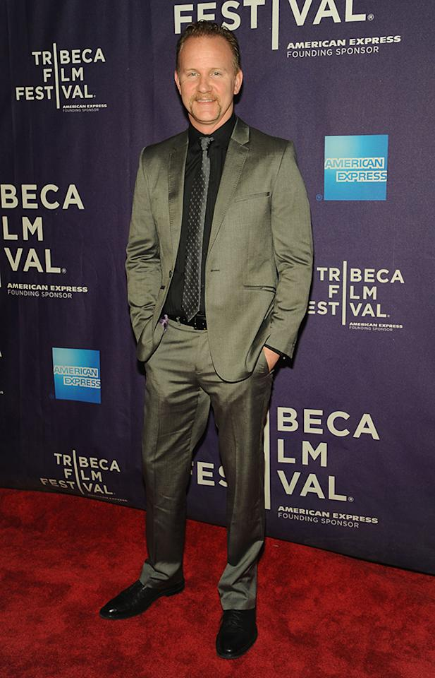 "NEW YORK, NY - APRIL 20:  Executive Producer Morgan Spurlock attends the ""Dancing In Jaffa"" World Premiere at the  AMC Loews Village 7 during the 2013 Tribeca Film Festival on April 20, 2013 in New York City.  (Photo by Simon Russell/Getty Images)"