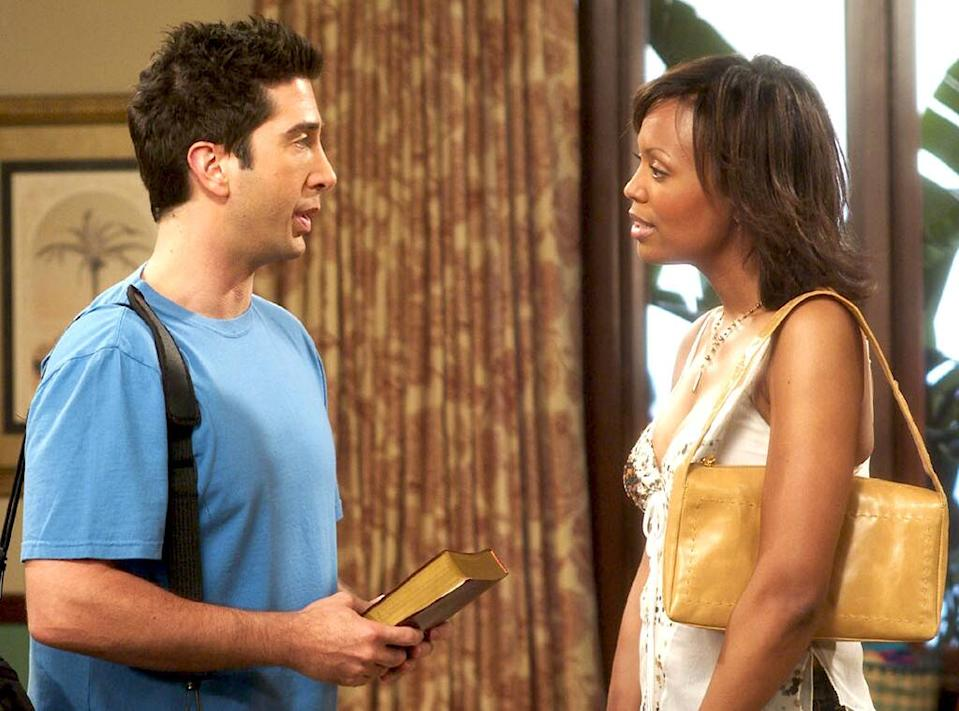 David Schwimmer and Aisha Tyler on Friends