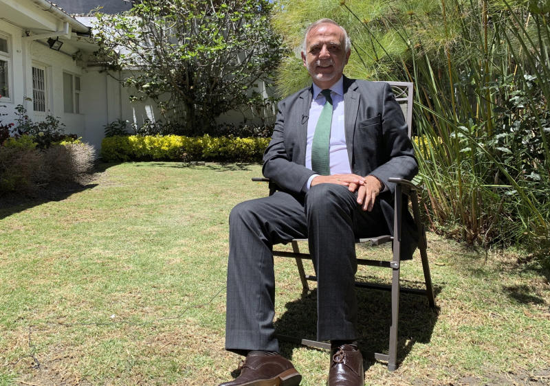 Ivan Velasquez, the commissioner of the United Nations International Commission Against Impunity, CICIG, smiles during an interview, in Bogota, Colombia, Friday, Aug. 30, 2019. Although he did not head the anti-corruption mission in Guatemala starting with its creation in 2007, Velasquez became known internationally about a half decade ago due to the high-impact cases he was able to uncover during his leadership. (AP Photo/Sergio Leon Villarraga)