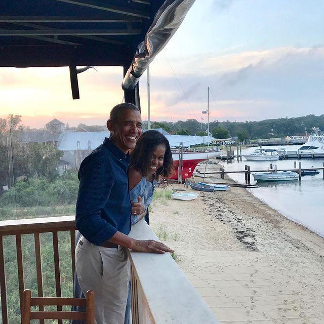 """<p>Since leaving the White House, the pair has <a href=""""https://www.instagram.com/p/B3KPC49gbqM/"""" rel=""""nofollow noopener"""" target=""""_blank"""" data-ylk=""""slk:enjoyed their downtime"""" class=""""link rapid-noclick-resp"""">enjoyed their downtime</a>.</p> <p>Mrs. Obama """"has been more relaxed and more joyful since we left office,"""" <a href=""""https://people.com/politics/barack-obama-white-house-strain-on-his-marriage-how-they-got-through/"""" rel=""""nofollow noopener"""" target=""""_blank"""" data-ylk=""""slk:her husband told PEOPLE"""" class=""""link rapid-noclick-resp"""">her husband told PEOPLE</a>. """"That allowed us to just enjoy the deep love that comes with a marriage this long. But also to be friends again.""""</p>"""