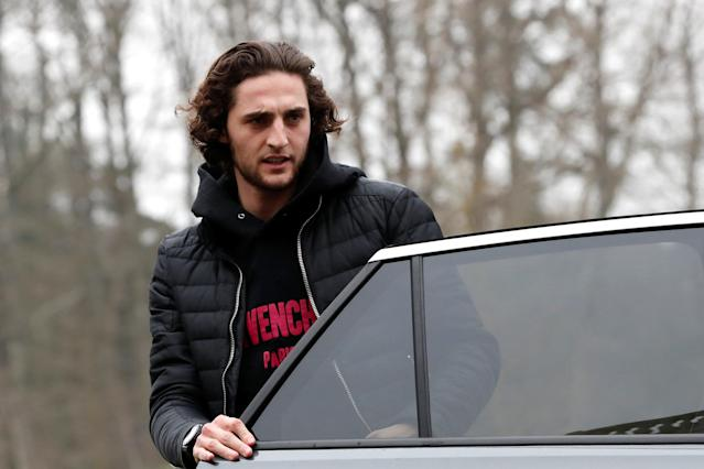 Soccer Football - France Training - Clairefontaine, France - March 19, 2018 France's Adrien Rabiot arrives before training REUTERS/Gonzalo Fuentes