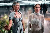 Moss and her lookalike daughter, Lila Grace Moss, hit the runway together during Paris Fashion Week - a first for the mother/daughter duo.<em> (Image via Getty Images)</em>