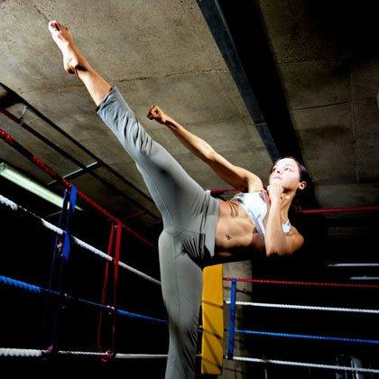 "<p>Kickboxing workouts are a fun and effective cardio option that engage almost every muscle in your body, too. So instead of plodding along on the treadmill, try these drills from fitness expert and certified kickboxing instructor <a href=""http://www.jessicasmith.tv/"" target=""_blank"">Jessica Smith</a> to <a href=""https://www.shape.com/weight-loss/tips-plans/30-ways-burn-100-calories-without-even-trying"" target=""_blank"">torch calories</a> and tone your arms, abs, shoulders, back, and legs at the same time.</p> <p><strong>How it works:</strong> Perform each drill back to back without rest. When you've finished the last drill, rest for 1-2 minutes and repeat the full circuit one more time.</p> <p><strong>What you'll need:</strong> Just a bit of free space! And maybe a fun, <a href=""https://www.shape.com/fitness/workout-music/shape-half-marathon-ultimate-running-playlist"" target=""_blank"">dance-party playlist</a> to help power you through this kickboxing workout.</p>"