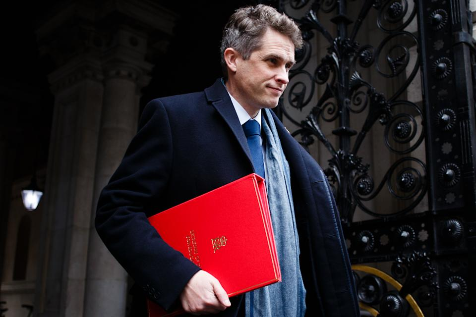 Secretary of State for Education Gavin Williamson, Conservative Party MP for South Staffordshire, returns to Downing Street from the weekly cabinet meeting, currently being held at the Foreign, Commonwealth and Development Office (FCDO), in London, England, on November 10, 2020. (Photo by David Cliff/NurPhoto via Getty Images)