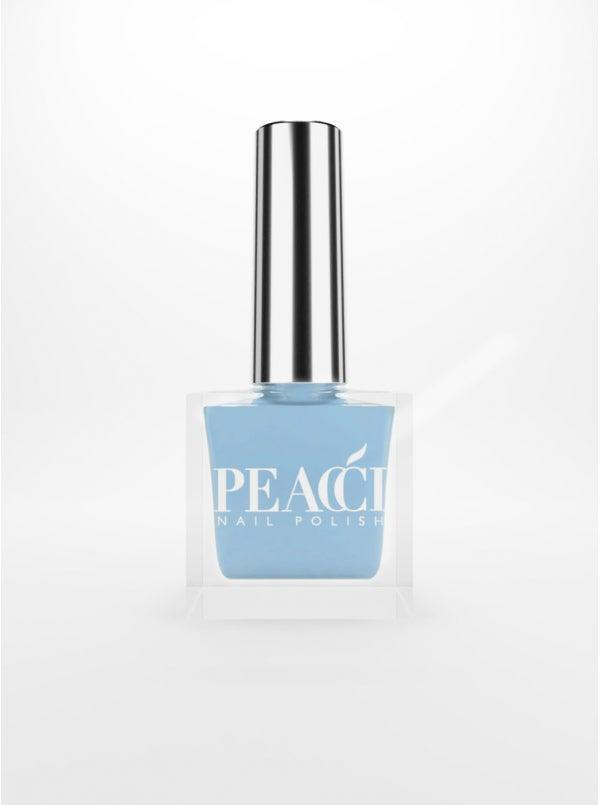 """<h3>Peacci Forget Me Not</h3><br>For <a href=""""https://www.refinery29.com/en-us/spring-pedicure-colors"""" rel=""""nofollow noopener"""" target=""""_blank"""" data-ylk=""""slk:sandal season"""" class=""""link rapid-noclick-resp"""">sandal season</a>, you can't go wrong with a saturated <a href=""""https://www.refinery29.com/en-us/light-blue-nail-polish"""" rel=""""nofollow noopener"""" target=""""_blank"""" data-ylk=""""slk:baby blue"""" class=""""link rapid-noclick-resp"""">baby blue</a>. This shade by Peacci, called Forget Me Not, is the perfect go-between a springtime pastel and a sunny bright.<br><br><strong>Peacci</strong> Forget Me Not, $, available at <a href=""""https://go.skimresources.com/?id=30283X879131&url=https%3A%2F%2Fus.peacci.com%2Fnail-polish%2F97-forget-me-not.html"""" rel=""""nofollow noopener"""" target=""""_blank"""" data-ylk=""""slk:Peacci"""" class=""""link rapid-noclick-resp"""">Peacci</a>"""