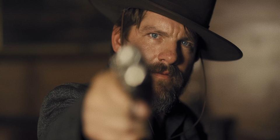 """Zachary Knighton stars as the leader of an outlaw gang who runs afoul of a coven of witches in the Western horror """"The Pale Door."""""""