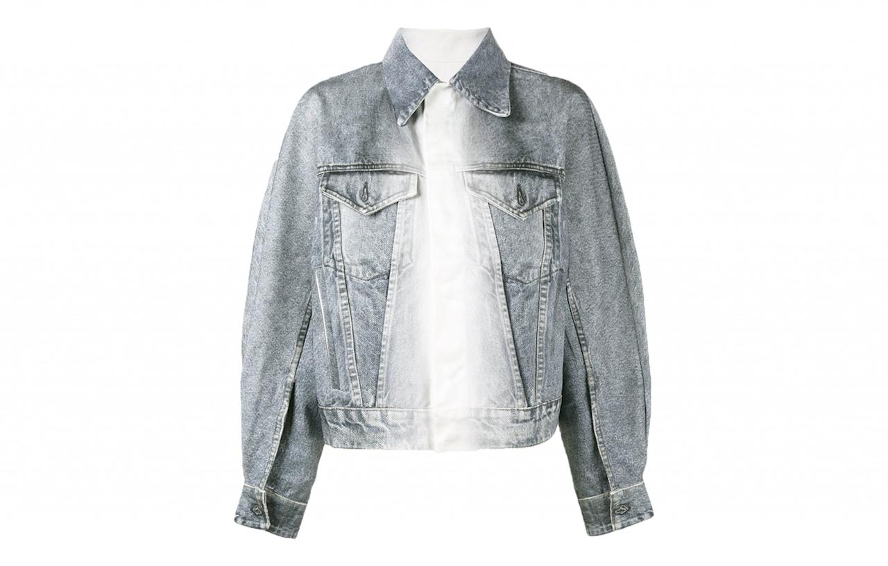 "<p><a rel=""nofollow"" href=""https://www.brownsfashion.com/uk/shopping/oversized-denim-jacket-12080220"">Browns, £202.50</a> </p>"