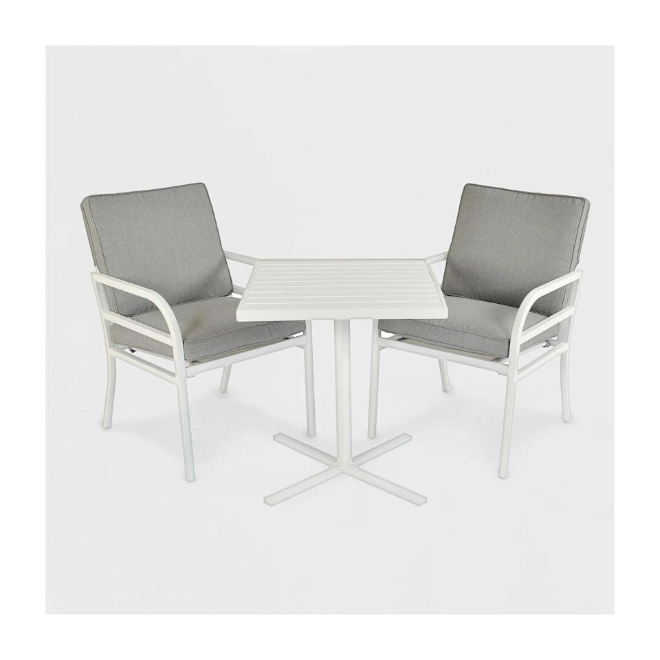 <p>You'll spend hours in deep conversation on the <span>Beacon Hill Patio Chat Set</span> ($330).</p>