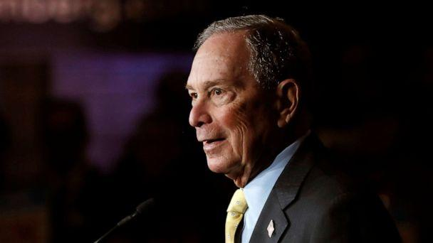 PHOTO: Democratic presidential candidate and former New York City Mayor Michael Bloomberg talks to supporters, in Detroit, Feb. 4, 2020. (Carlos Osorio/AP, FILE)