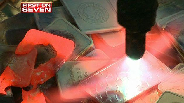 The fake gold Seven News purchased was destroyed after the exclusive investigation was completed.