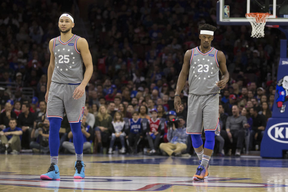 Jimmy Butler and Ben Simmons have formed a special bond through a pair of headbands. (Getty)
