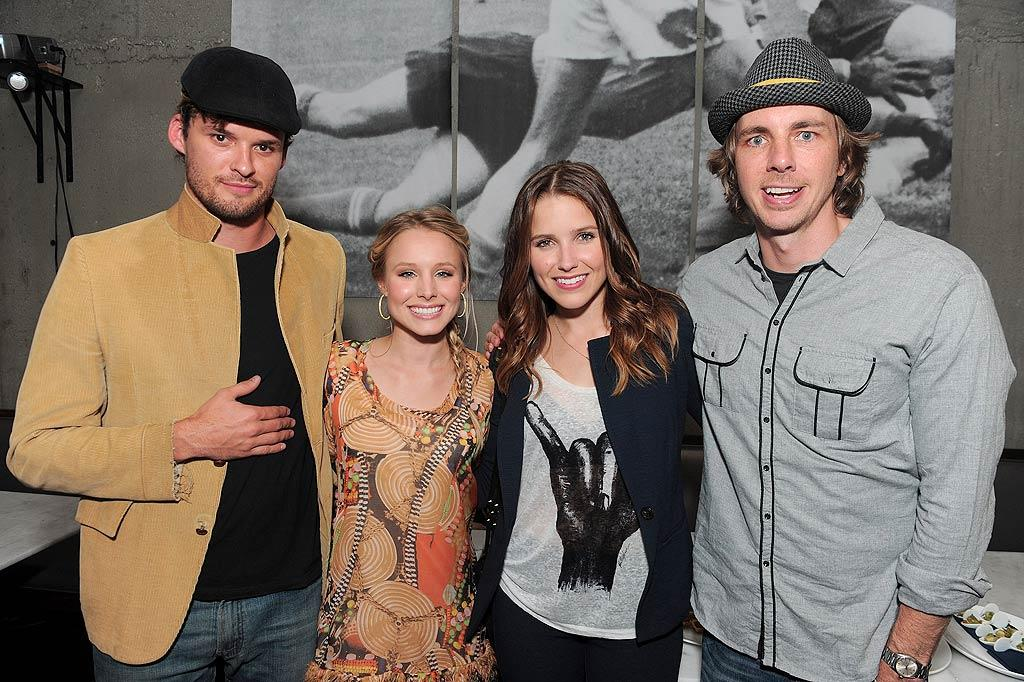 "Kristen Bell and her fiance Dax Shepard caught up with ""One Tree Hill"" stars Sophia Bush and Austin Nichols. Sophia tweeted after the event, ""Just finished watching a great Green Debate in LA. Thank god for people like the incredible Professor Simran Sethi. She is a green warrior."" Jordan Strauss/<a href=""http://www.wireimage.com"" target=""new"">WireImage.com</a> - July 8, 2010"
