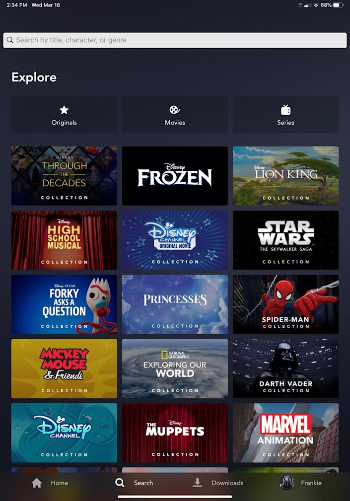 Disney+ subscribers can download content to watch offline, but here you have unlimited access to shows and movies.