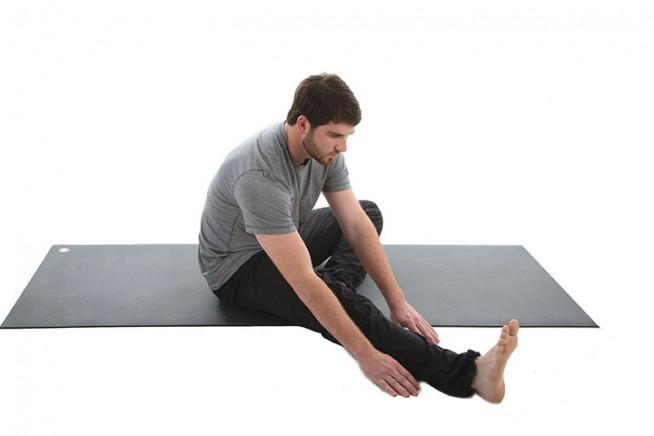 Bent-Knee Straddle Reach and Twist 2