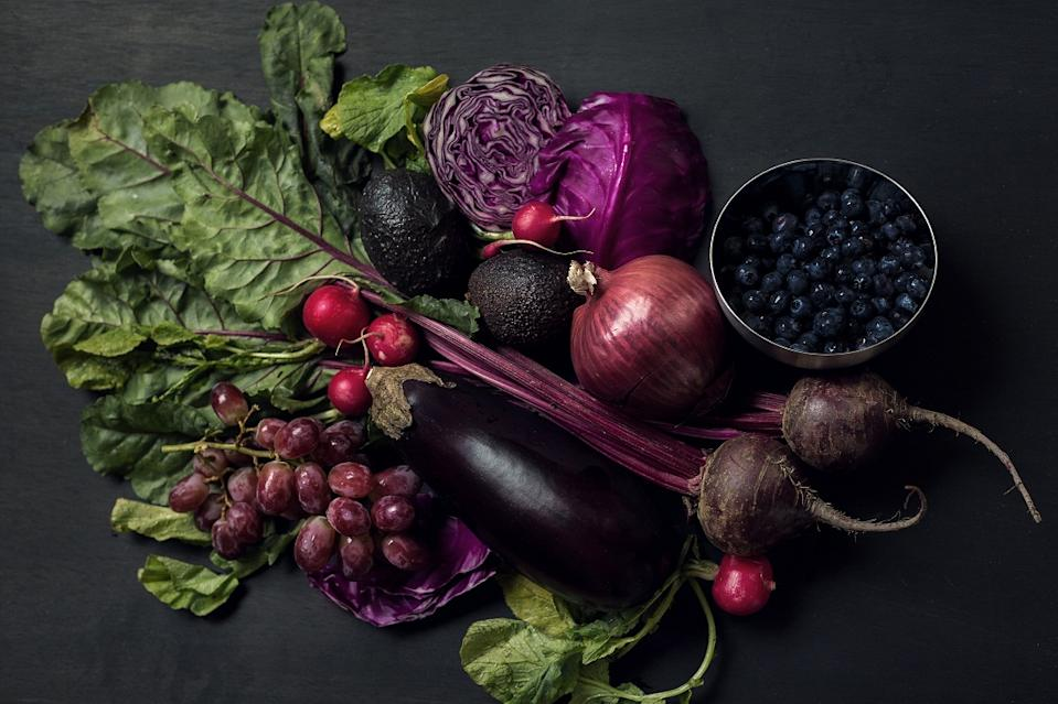 The Anthocyanins in Blueberries and Eggplant protect the body from heart disease and cancer