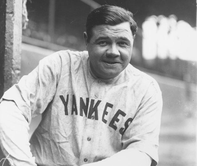 A Babe Ruth jersey from the 1920s could fetch as much as $4.5M at auction. (Photo by Louis Van Oeyen/Western Reserve Historical Society/Getty Images).