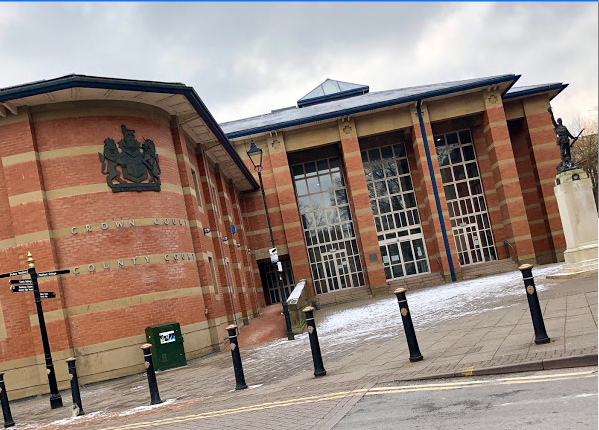 The trial into Megan's murder is being held at Stafford Crown COurt (Google Maps)