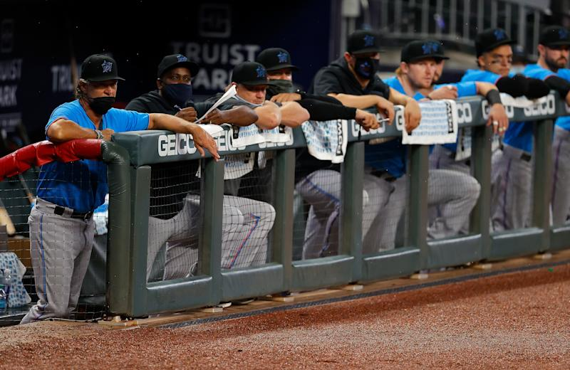 The Marlins have been the team most ravaged by the coronavirus. (Photo by Kevin C. Cox/Getty Images)