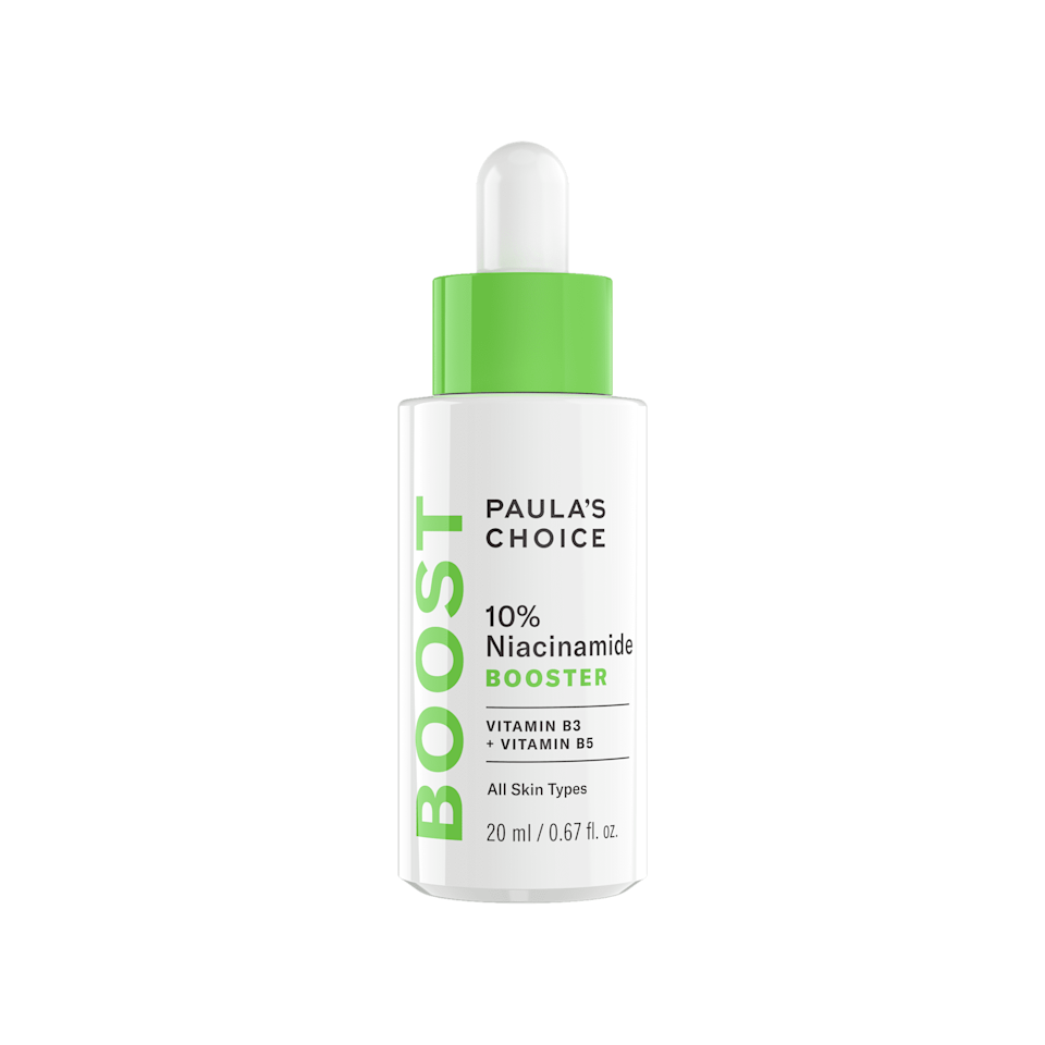 "<p>Add a drop of the highly concentrated <a href=""https://www.popsugar.com/buy/Paula-Choice-10-Niacinamide-Booster-588060?p_name=Paula%27s%20Choice%2010%25%20Niacinamide%20Booster&retailer=paulaschoice.com&pid=588060&price=44&evar1=bella%3Aus&evar9=47606854&evar98=https%3A%2F%2Fwww.popsugar.com%2Fphoto-gallery%2F47606854%2Fimage%2F47606855%2FPaula-Choice-10-Niacinamide-Booster&list1=skin%20care&prop13=api&pdata=1"" class=""link rapid-noclick-resp"" rel=""nofollow noopener"" target=""_blank"" data-ylk=""slk:Paula's Choice 10% Niacinamide Booster"">Paula's Choice 10% Niacinamide Booster</a> ($44) to any existing serum to one-up your regimen.</p>"