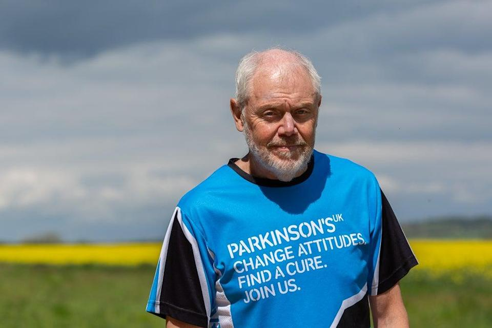 Neil Russell, who has Parkinson's, is taking on an 895-mile run from John O'Groats to Land's End to raise money for charity (Parkinson's UK)