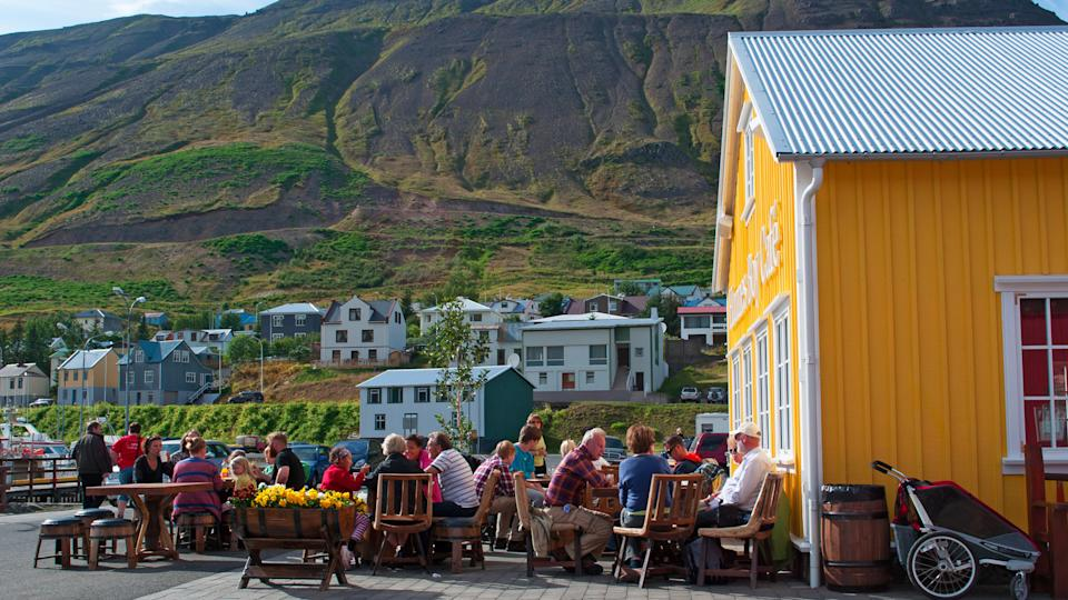 2012. The Hannes boy Cafe, How Much to Tip When Traveling to These 25 Countries, Iceland: the Hannes boy Cafe on August 26, is a bar and restaurant named after a local legend and fisherman, located in a yellow house by the marina of Siglufjordur