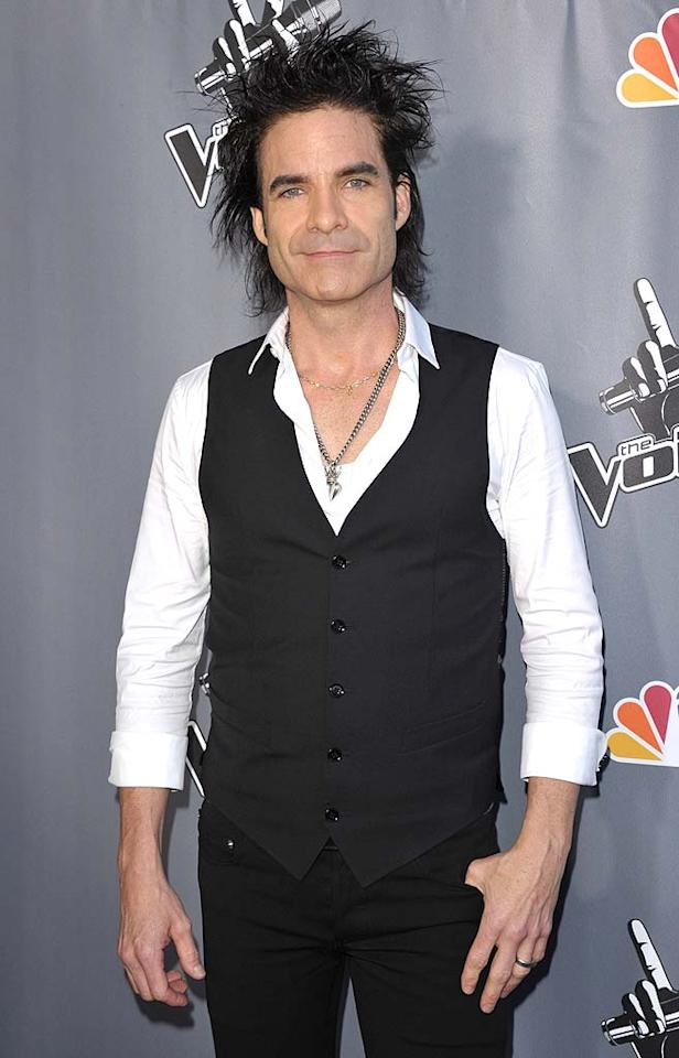 """""""Hey, Soul Sister"""" singer Pat Monahan looked like he stuck his finger in an electrical socket minutes before arriving at the star-studded """"Voice"""" finale. John Shearer/<a href=""""http://www.wireimage.com"""" target=""""new"""">WireImage.com</a> - June 29, 2011"""