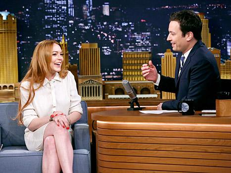 "Lindsay Lohan Tells Jimmy Fallon She Has a ""Really Strong Bond"" With Oprah Winfrey"