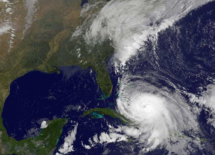 This NASA/NOAA satellite image shows Hurricane Joaquin on October 2, 2015 (AFP Photo/)