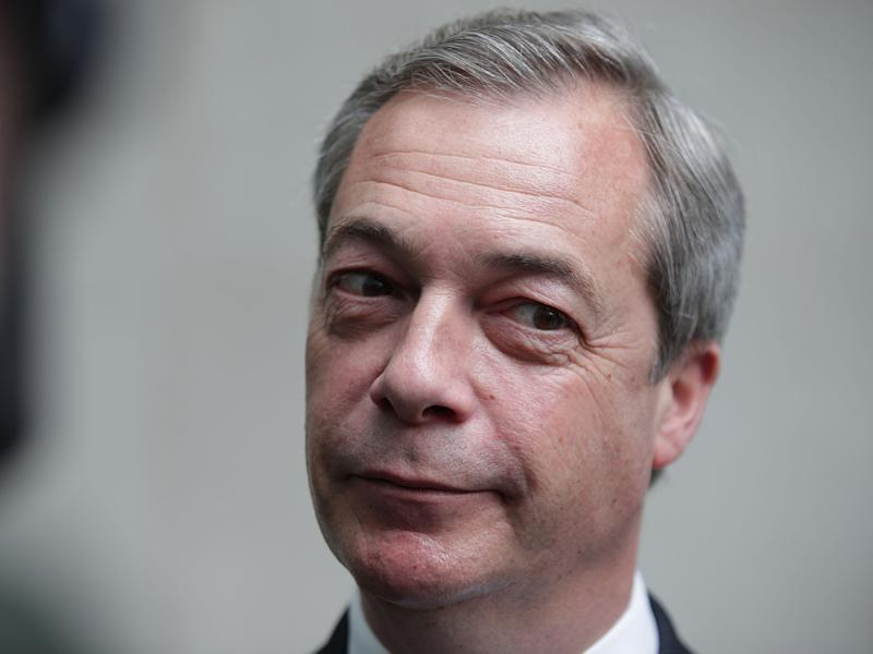 Former Ukip leader Nigel Farage: PA