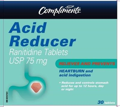 Acid Reducer (ranitidine) sold under the brand name Compliments (CNW Group/Health Canada)