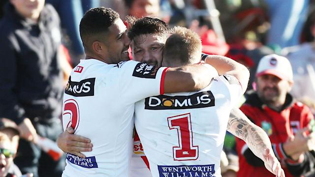 The Dragons and the Sharks were both winners in the NRL on Sunday, triumphing at home in a pair of testing contests.