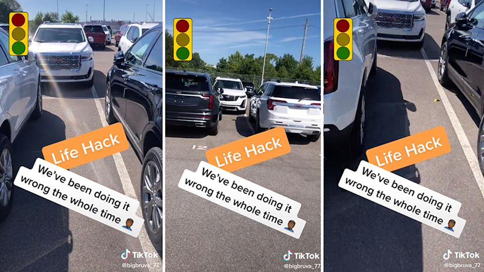 A TikToker has shared a life hack, saying we have been parking wrong