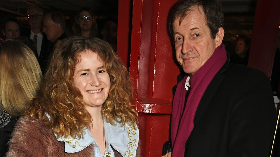 Grace and her dad Alastair Campbell do a podcast together called Football, Feminism and Everything In Between (Image: Getty Images)